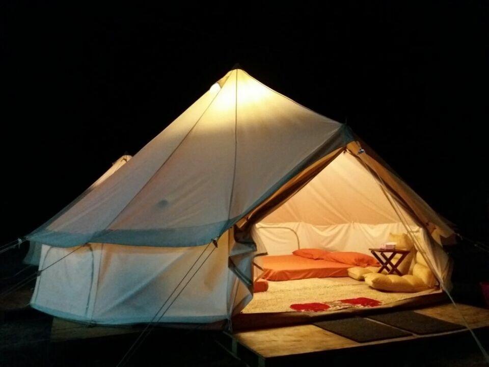 Бесплатная доставка Открытый 5 м Dia холст Белл палатка