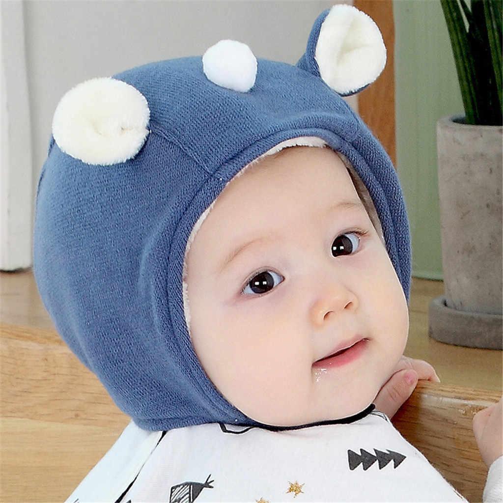 เด็กอบอุ่นกวางการ์ตูนหมวกเด็กหมวกขนสัตว์หมวกถักฤดูใบไม้ร่วงฤดูหนาวเด็กทารกสาวน่ารักหูหมวกเด็ก Beanies ของขวัญหมวก 2019 ใหม่