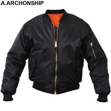 MA1 Для мужчин зимние теплые военные Airborne полета тактические Курточка бомбер армии ВВС летать пилот куртка Авиатор мотоцикл вниз пальто