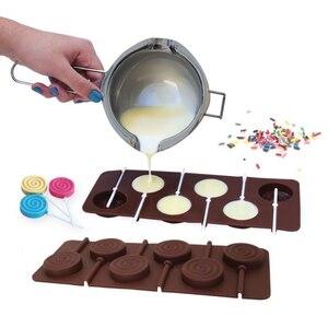 Image 2 - 1 pçs molde de silicone lollipop 9 tipos de bolo de chocolate fondant molde de biscoito geléia pudim moldes diy ferramentas de decoração do bolo de cozimento 20