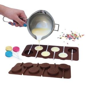 Image 2 - 1PCS Silikon Lollipop Form 9 Arten Schokolade Kuchen Fondant Cookie Form Jelly Pudding Formen DIY Backen Kuchen Dekorieren Werkzeuge 20