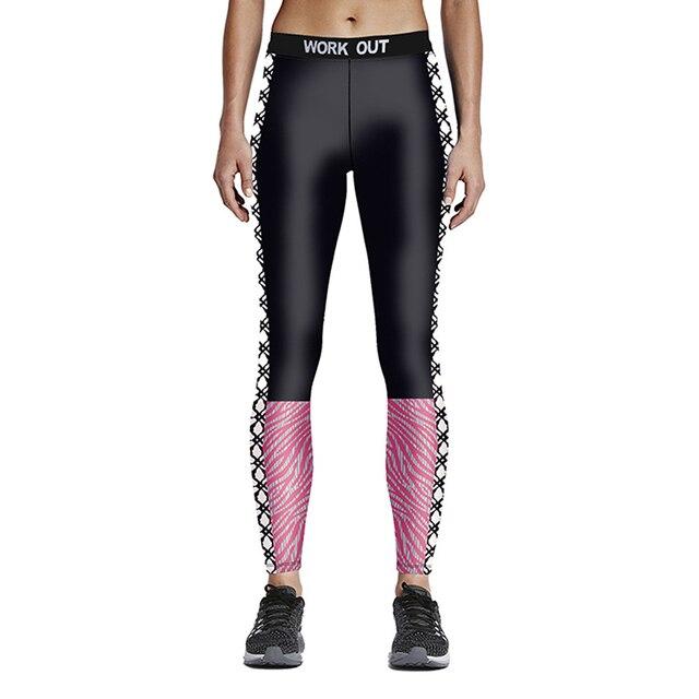 DuolaFine Leggings Print Gradient Black Rose Floral Casual Sea Beach Pants Raise Buttock Elastic Slim Fitness Leggings LG030