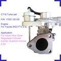 Supercharger turbine 17201-30120 128636 для Toyota Hiace Hilux Dyna Regiusace Fortuner Condor 2KD-FTV дизельный двигатель 2.5D