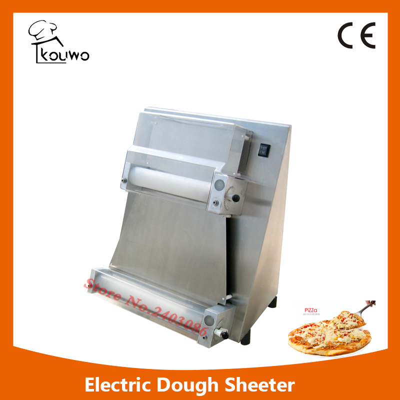 KW-1V 16 inch crust pizza base press making machine bread dough roller/sheeter machine for pizzeria shop electric pizza dough press machine for rolling dough dough sheet making machine