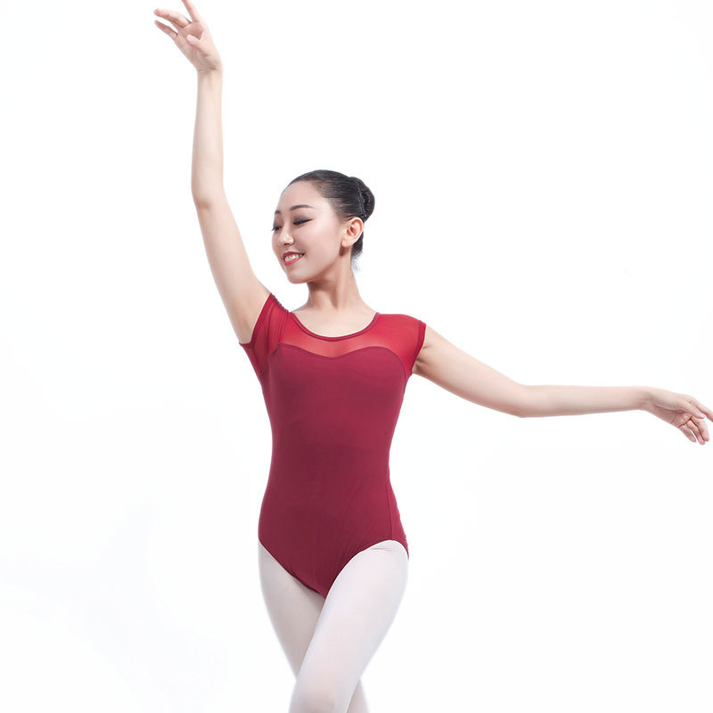 Women Adult Leotard Ballet Short Sleeve Dance Wear Jumpsuit Sport Gymnastics New