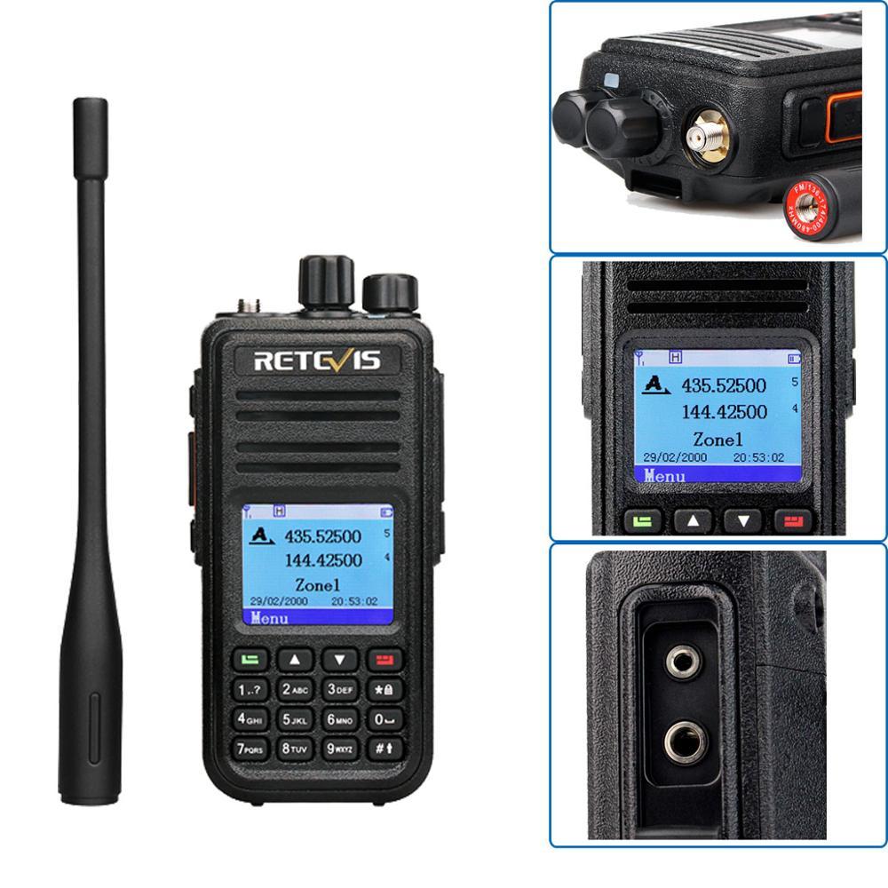 band digital Retevis RT3S Dual Band DMR Radio Digital Walkie Talkie GPS DCDM TDMA Ham Radio Station Hf Transceiver + Accessories (4)