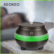 KEOKEO Air Humidifier 300ML USB Aroma Essential Oil Diffuser Ultrasonic Humidifier Air Purifier 7 Color LED Portable Atomizer hot 7 color ultrasonic home aroma humidifier air diffuser purifier lonizer atomizer air humidifier
