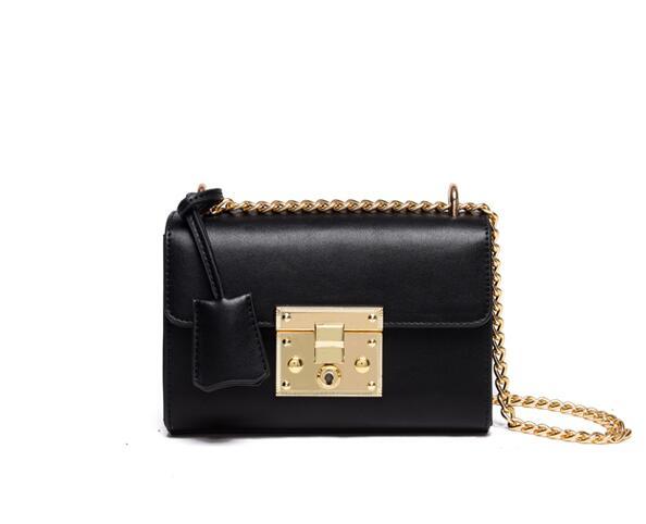 Women's handbag 2016 casual mini lockbutton bag chain messenger bag