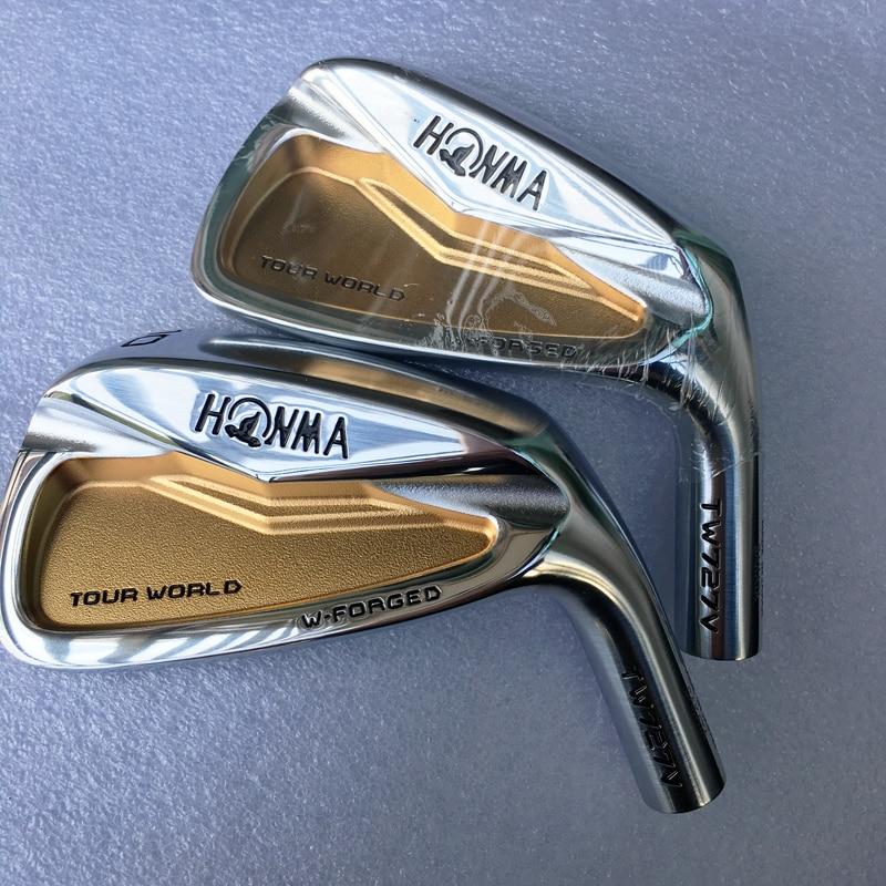 Cooyute New Mens HONMA Golf Head HONMA TW727V Gold Golf Irons Head Set 4-10 Golf Club Heads No Irons Shaft Free Shipping
