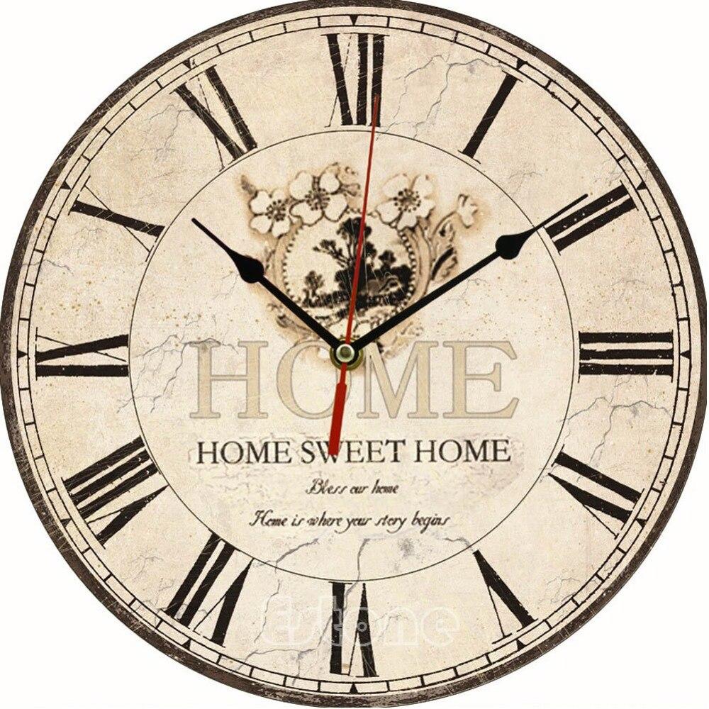 ᗑGran decoración de la pared de la vendimia reloj de la vendimia ...