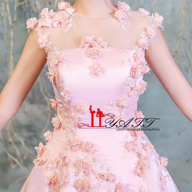 Online Shop Vintage Pink Prom Dresses 2018 New Arrival 3D Flowers ...
