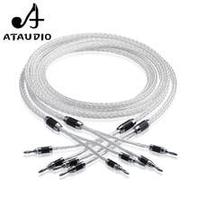 ATAUDIO 8ag Чистая Посеребренная OCC Здравствуйте fi кабель колонки Здравствуйте класса Динамик провод для усилителя и CD
