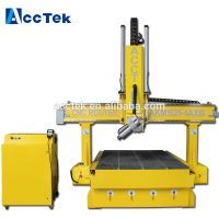 AccTek cnc router 1530 4 axis cnc milling machine with rotate spindle HSD