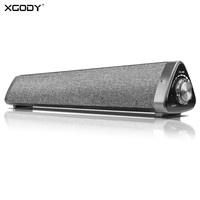 XGODY LP1811 10W Bluetooth Soundbar Home Theater TV Computer Surround Wireless Speaker Sound Bar With Mic Remote Control