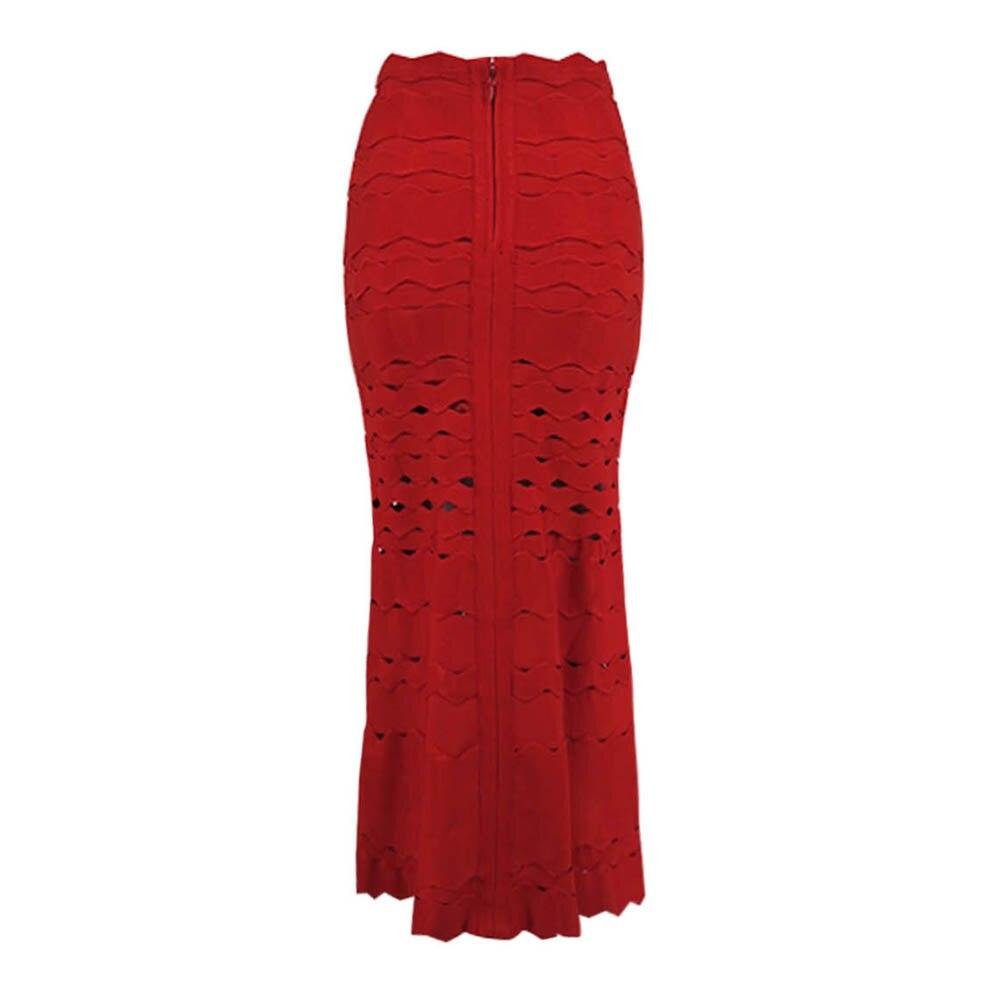 أزياء المرأة الأحمر الأسود الأبيض البيج 2019 جديد وصول خط الجاكار الركبة طول المشاهير حزب ضمادة تنورة-في تنورة من ملابس نسائية على  مجموعة 2