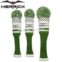 Golf Headcovers 1 Set Wool Knit Golf Clubs Set Fairway Wood Covers Golf Accessories
