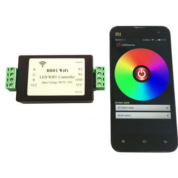RGBW RGBWW LED Strip Light WiFi Controller Dimmer ESP8266 (Android WLAN) 1 Port Controls 200 Lights Output 5 Routes PWM Data header civic eg