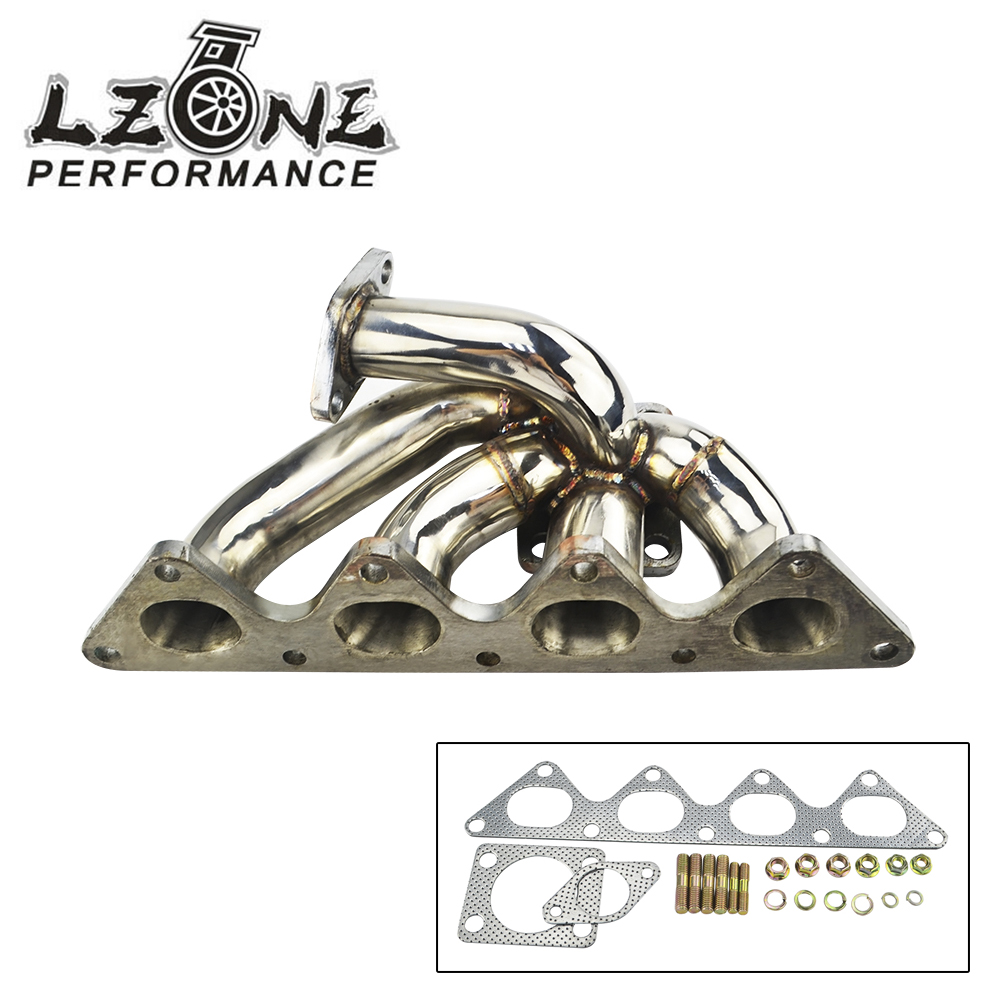 LZONE RACING -Turbo Manifold For Mitsubishi EVO 4G93 Stainless stee201 JR3509 epman for mitsubishi evo 1 3 cast aluminum turbo intake manifold polished jdm high performance ep it5941