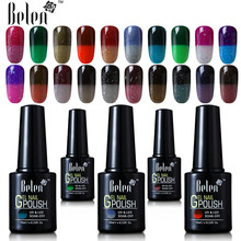 Belen 100 Colors Thermal Change Gel Nail Polish UV LED Semi Permanent GelLak Thermo Varnish Gelpolish Long Lasting Chameleon Gel