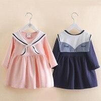 Kids Girls Dress Spring Autumn Clothing Baby Cotton Denim Dress Children Girls School Style Clothes