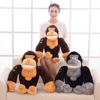 Sevimli Siyah Maymun Peluş Pamuk Çocuklar için Dolması Oyuncaklar Bebek Bebek Hediye Peluş Maymun Bebek