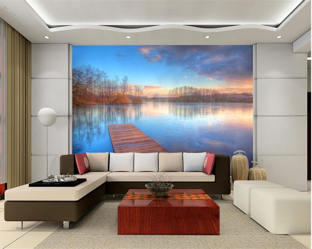 Woonkamer Behang Modern : Beibehang lakeside landschap modern natuur landschap d woonkamer