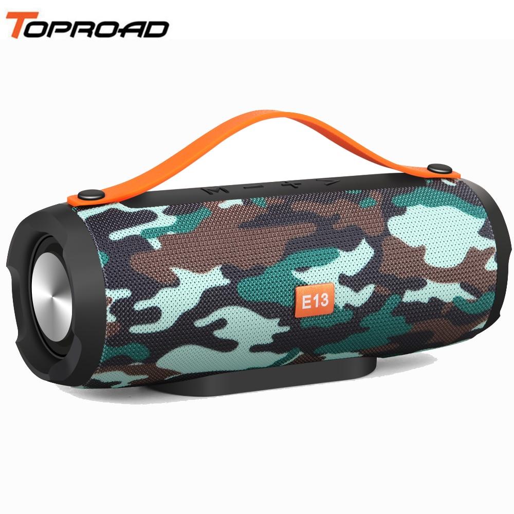 TOPROAD Portable Wireless Bluetooth Speaker Stereo Soundbox Big Power 10W Support TF FM Radio USB Music Subwoofer Column Speaker