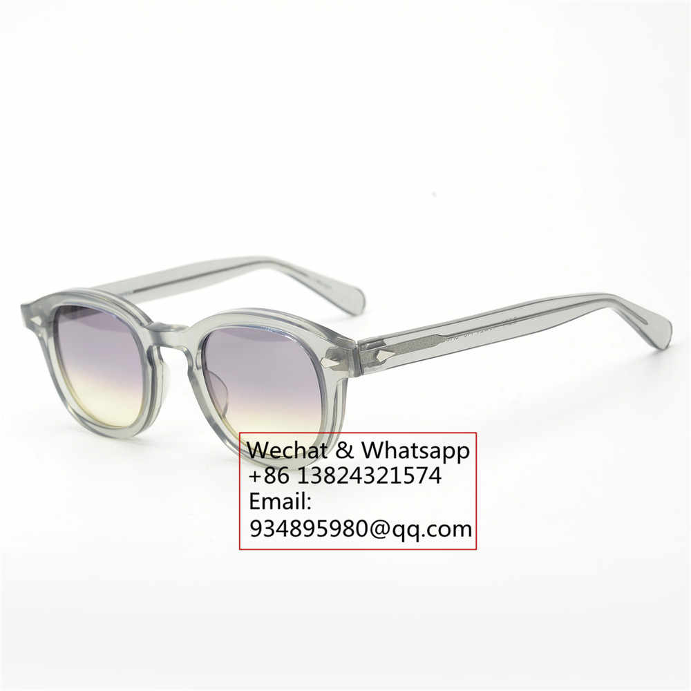 af96beb7cb ... Pirate captain Johnny Depp style acetate dyed vintage sunglasses men  and women round outdoor retro sun ...