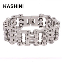 316L Stainless Steel Motorcycle Bracelet Mens Punk Bicycle Chain Knight Jewelry Gift Wholesale