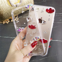 XINGDUO hot sale Rhinestone Case for Samsung Note 8 9 Glitter Jewelled Transparent soft back shell S9 S8 S10 Plus Lite S6 S7