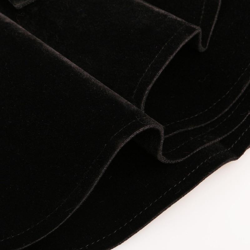 Croustillant Modélisation Qd637 18 Hubble Tricoté Manches Top Femelle Nouveau Laine Composite Coat Noir Falbala bulle wUgqw1I