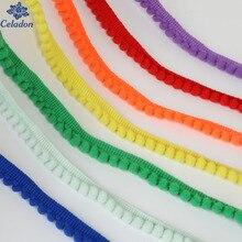 Лидер продаж 5 ярдов помпон отделкой мяч мм 10 мм Мини жемчуг бахрома ленты Вышивание кружево трикотажная ткань ручной работы Craft интимные аксессуары
