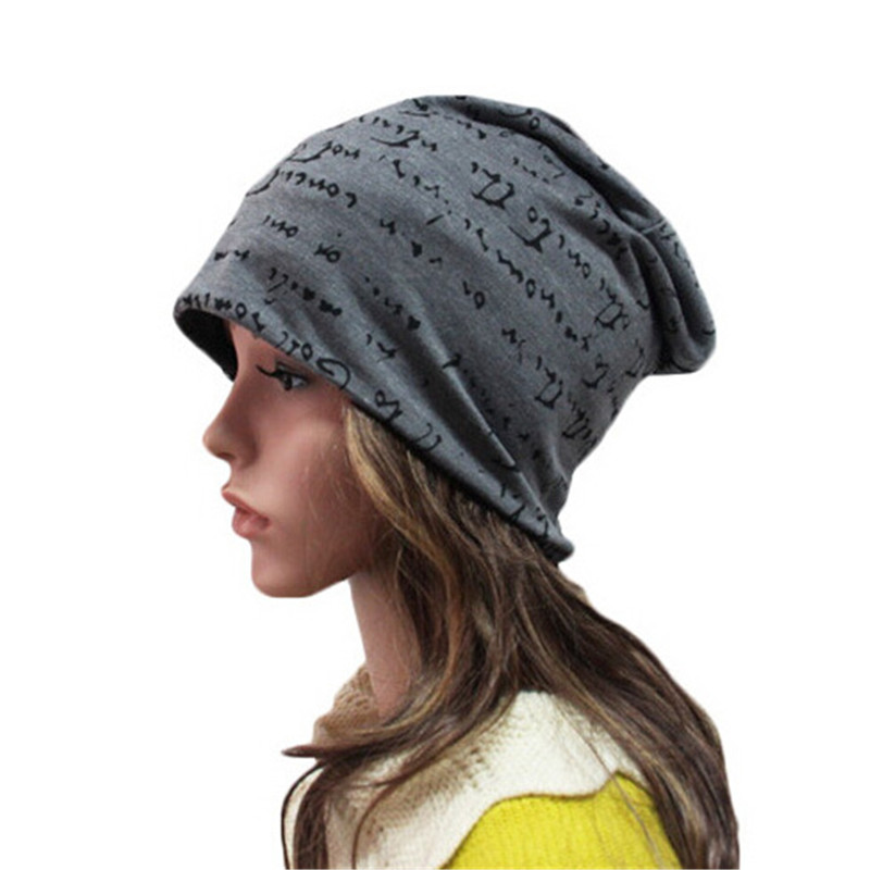 Unisex Letter Skullies Polyester Printed Beanies Hip-Hop Warm Men's Beanie Winter Women's Hats Cotton Knit Male Skull Cap M055 silver 2016 new technology diamond microdermabrasion machine v line face remove scars acne marks skin beauty machine