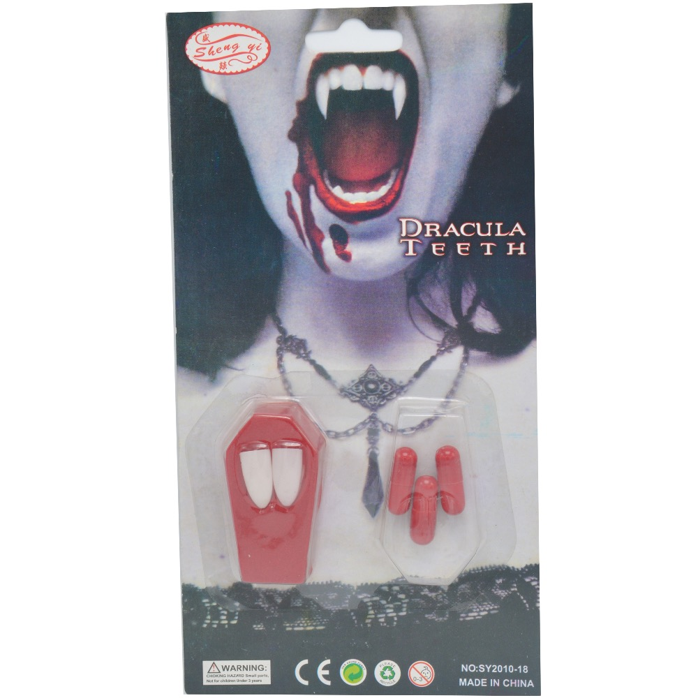 Costumes & Accessories Scary Bloody Fake Zombie Vampire Teeth Tricky Toys Cosplay Props Party Dress Up Decoration Halloween Christmas Easy To Repair Novelty & Special Use