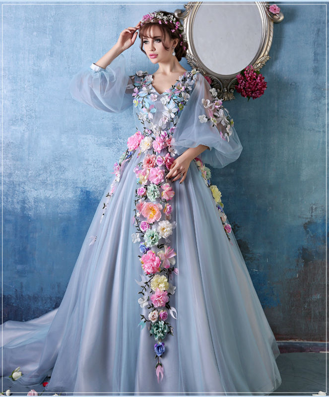 Flower Feather Wedding Dress – fashion dresses