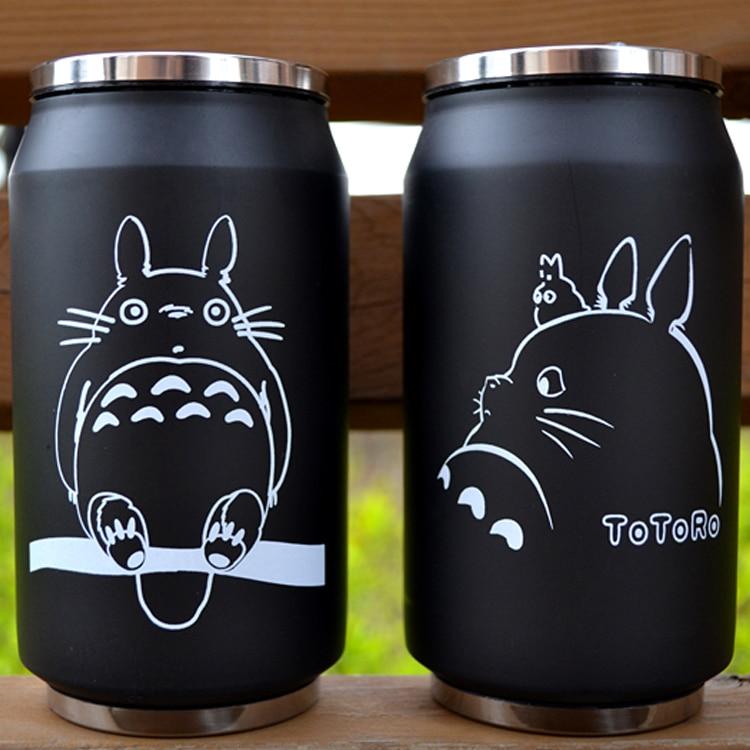 cartoon vacuum thermos mug my neighbor totoro can of cola stainless steel anime figures cup with Japanese hayao miyazaki design
