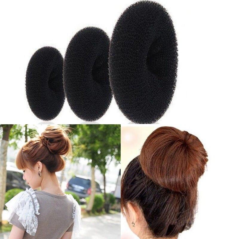 3 sizes for choice (6CM,8CM,9CM) Hair Styling Donut Magic Sponge Bun Ring Maker Former Twist Hair Tools accesorios  цены