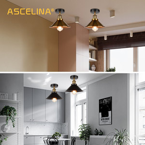 Image 5 - ASCELINA LED Industrial Ceiling Lamp Vintage Chandelier Retro Attic Interior Lighting American Country Restaurant Bedroom Lights