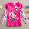Marca camisa da menina t, roupas infantil meninos Tudo para As crianças roupas e acessórios, rose red roxo desgaste dos miúdos enfant frete grátis