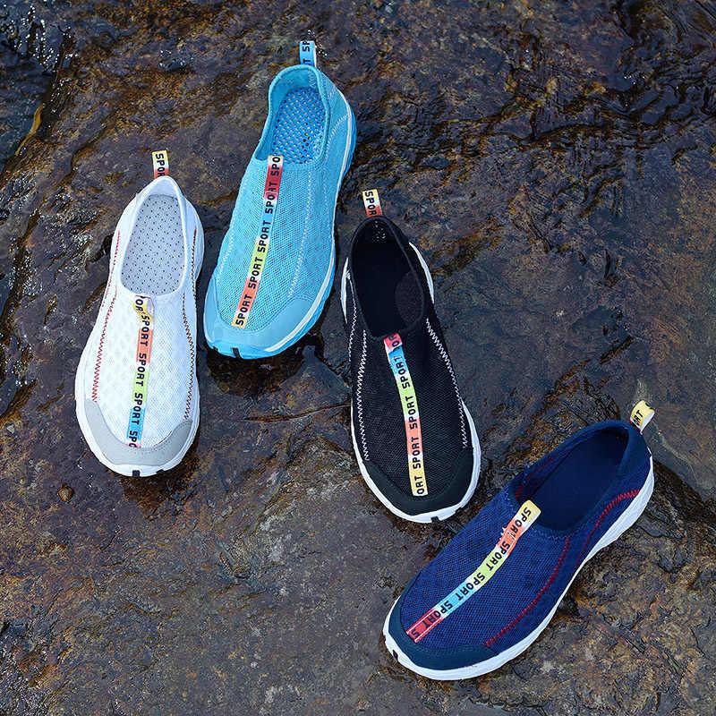 19cb25e32e5fc 2018 Swimming Aqua Shoes Summer Men Women Beach Water Sneakers Quick-drying  Outdoor Sport Snorkeling
