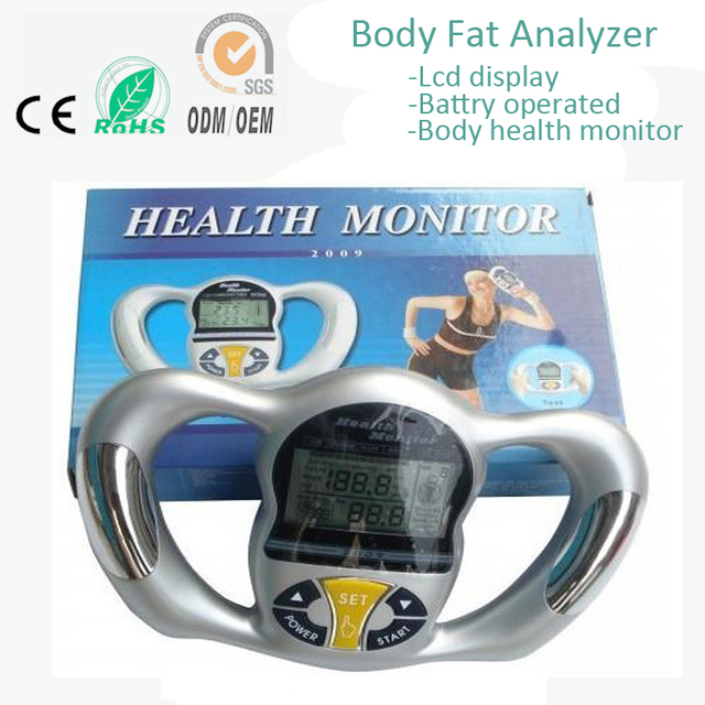 Hand Grasp Home Use BIA LCD Digital Body Fat Composition Rate Measurement Testing Analyzer Analysis Health Monitor Machine