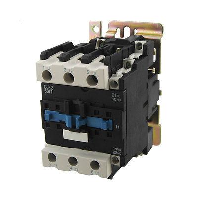 Ui 660V Ith 80A 3 Poles 1 NO 1 NC 380V Coil AC Contactor CJX2-5011 220v coil volt air condition 3 phrase 1no 1nc ac contactor cjx2 5011