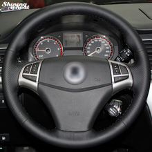 Shining wheat Hand-stitched Black Leather Steering Wheel Cover for Ssangyong Korando 2011-2014