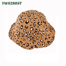 New Spring Summer Baby Sun Hat Cartoon Leopard Print Girls Kids Boys Bucket Cap Outdoor Fashion Toddler