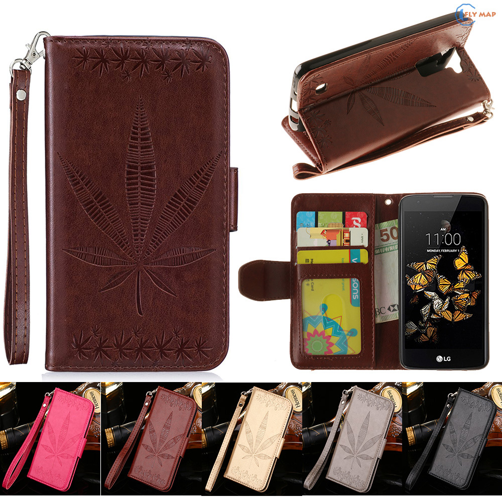 Flip Case For LG K8 LGK8 4G LTE Luxury Phone Leather Cover Protector Case For LG Phoenix 2 K350 K350N K350E K350 E LG-K350E Box