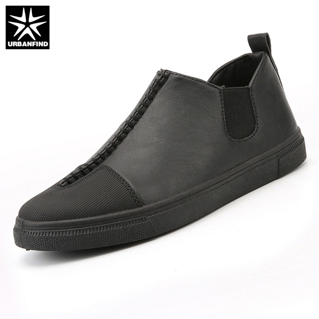 1e9b67a4a3 URBANFIND Slip-on De Couro Dos Homens Sapatos Casuais Tamanho DA UE 39-44