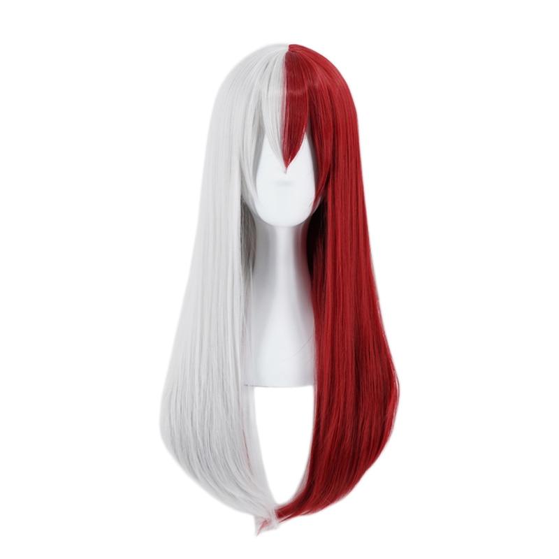 My Hero Academia Todoroki Shoto Long Wig Cosplay Costume Boku no Hero Academia Women Heat Resistant Hair Halloween Party Wigs 1