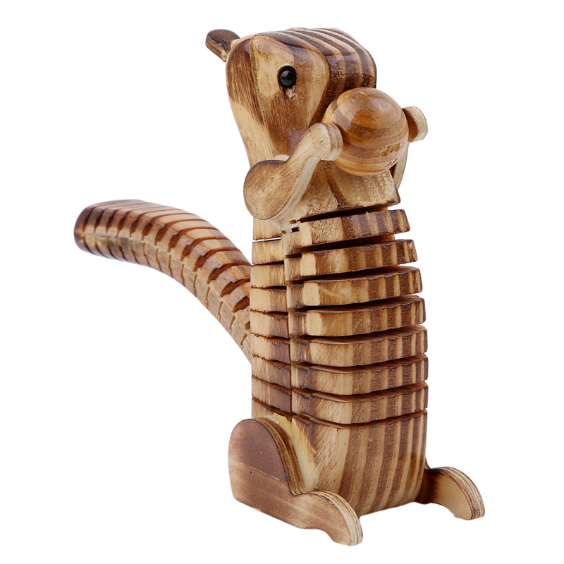 Model Simulation-Tortoise Wooden Squirrel-Shape Home Office-Decoration-Accessories High-Quality