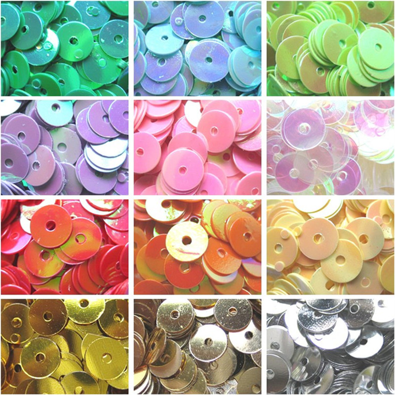 6mm / Pack Round Loose Sequins DIY Sewing Handmade Clothing Paillettes Wedding Craft Gift Accessories