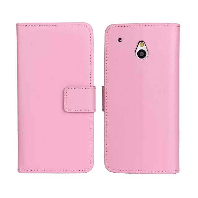 11 Color High Quality Genuine Leather Wallet Stand Cover Case For HTC One mini M4 with Card Holder and TV Function Free
